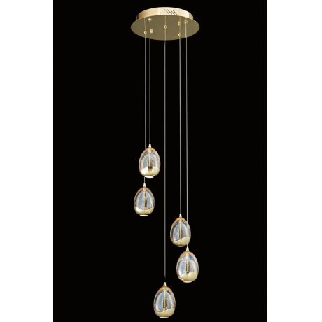 Shop by style modern lighting modern ceiling lights hanging terrene teardrop 5 light spiral pendant gd aloadofball Choice Image